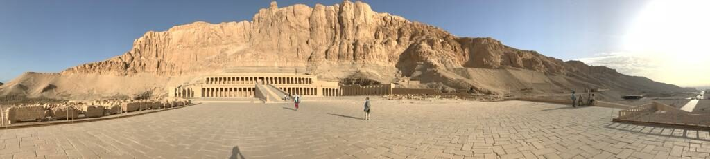 Panoramic view Temple of Hatshepsut West bank