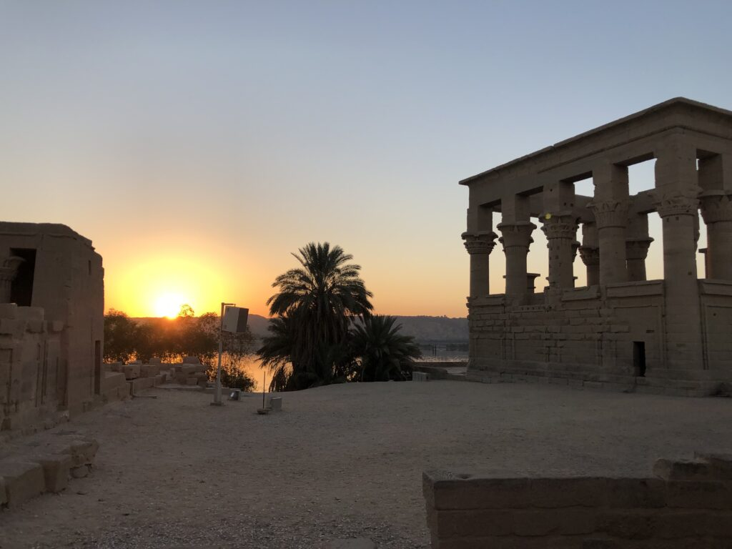 Sunrise at Isis Temple in Assuan
