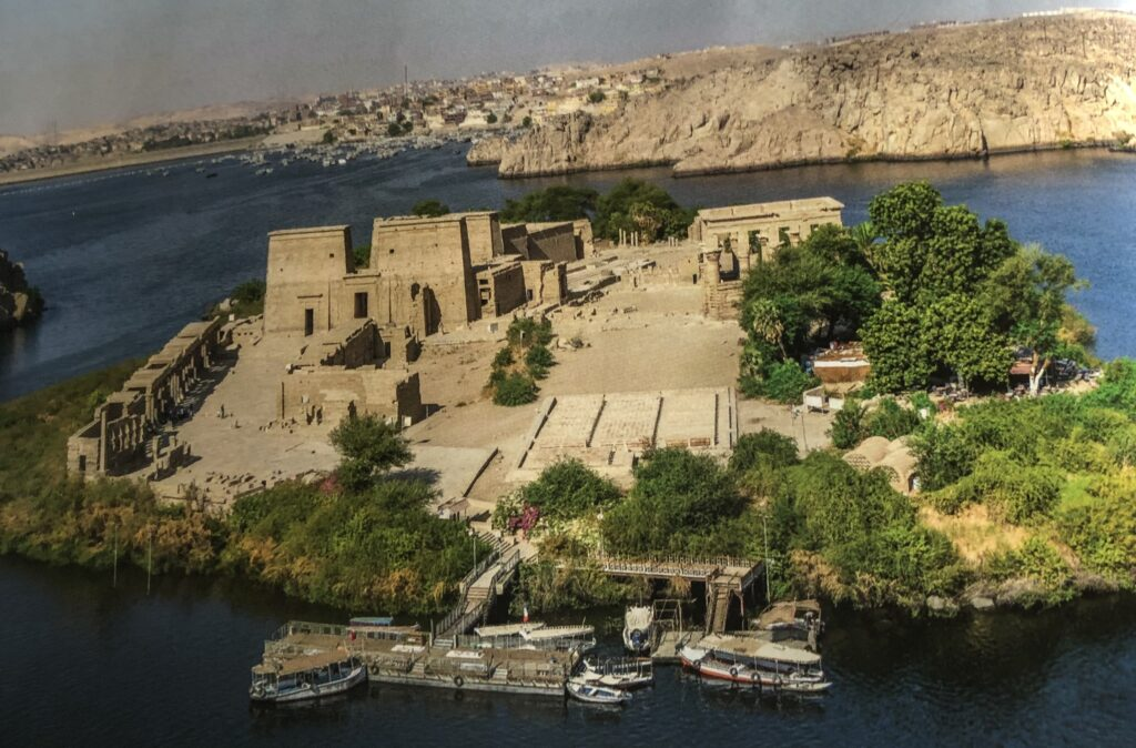View of island Philae in Assuan