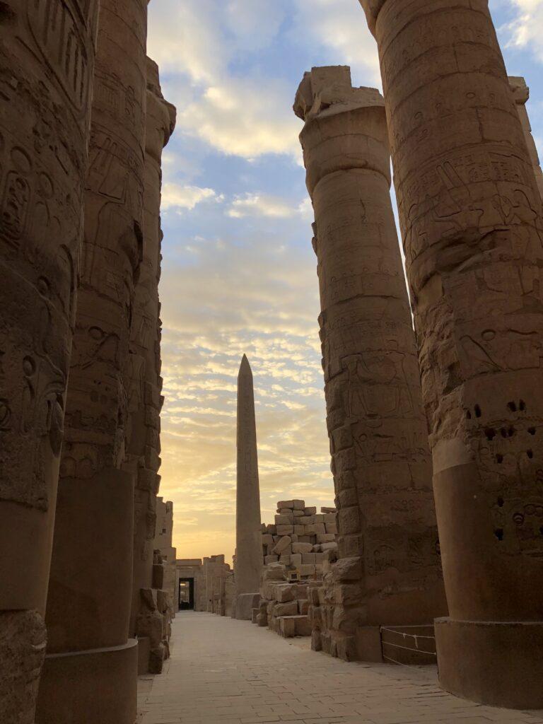 Pilars and Obelisk Karnak Temple
