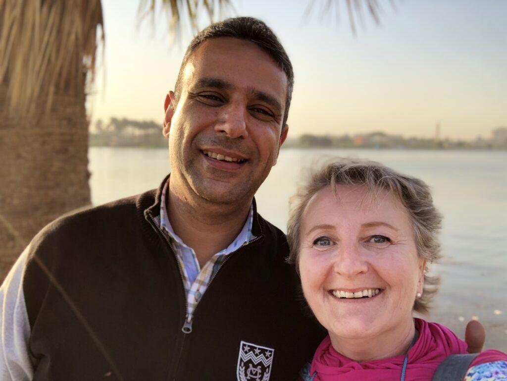Akram Farouk and Cristina Teot